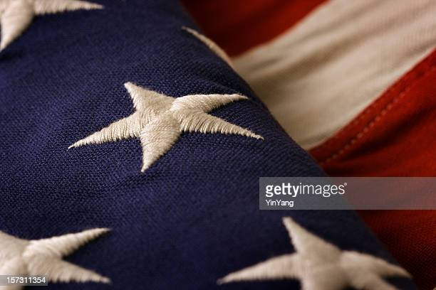 weathered u s flag close-up - stars and stripes stock pictures, royalty-free photos & images