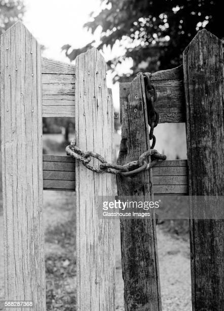Weathered Wood Gate and Chain