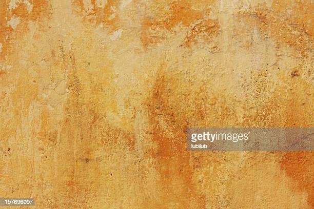 vecchio muro giallo texture di fes, marocco - affresco foto e immagini stock