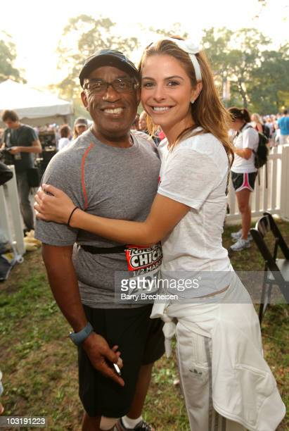 NBC weatherman Al Roker and Access Hollywood's Maria Menounos attend the Rock 'n' Roll Half Marathon on August 1 2010 in Chicago Illinois