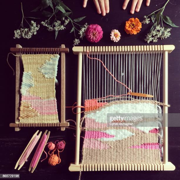 Weaving and Garden Flowers