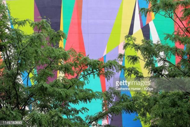 weaving colours - peinture murale photos et images de collection
