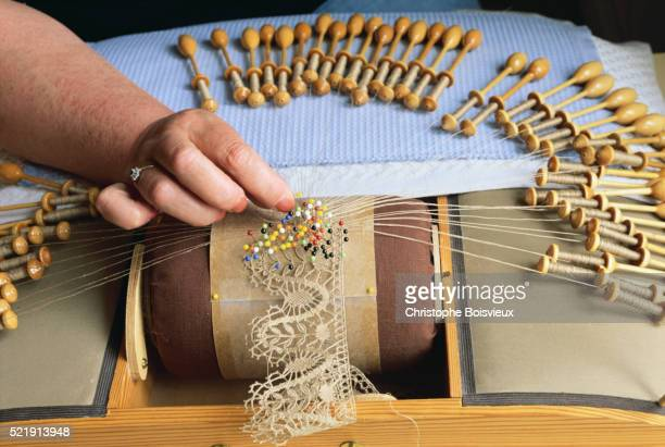 Weaving Lace With Numerous Bobbins