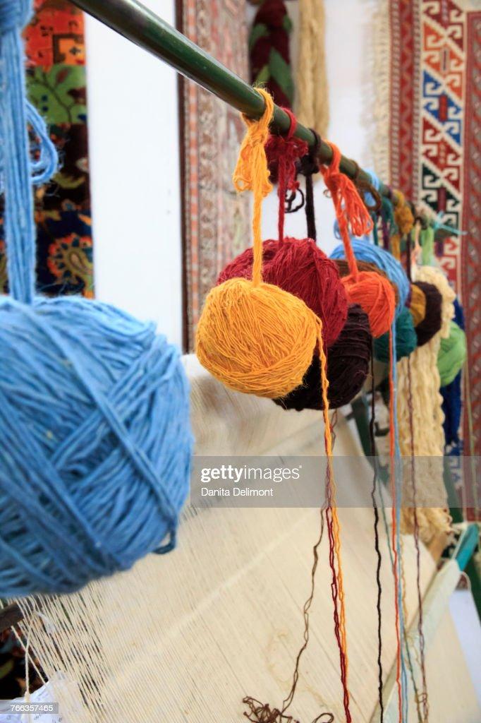 Weaving Loom Rug Making Of Wool