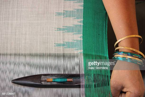 weaving - sari stock pictures, royalty-free photos & images