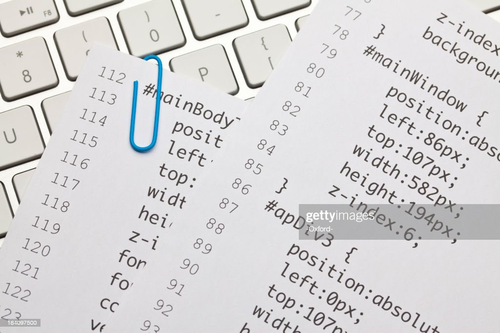 Web code on keyboard : Stock Photo