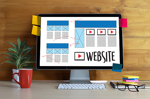 Web Design layout sketch drawing Software Media WWW and Graphic Layout Website development project 827896866