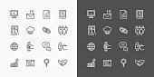 Web Icons Line Set. Vector Design.