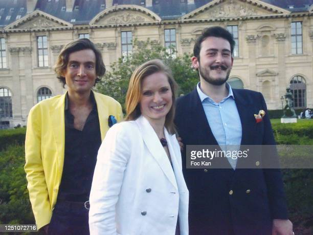 Web journalist Simon Collin from Les Clochards Celestes Amelie de Senigond de Rousset de Roumefort du Cluzeaud and Valentin Cavaille de Nogaret...
