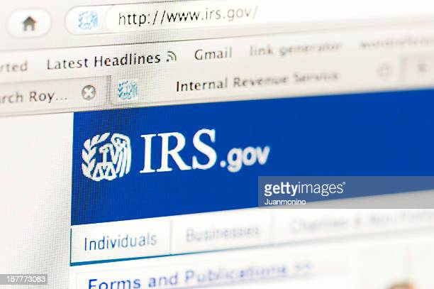 irs web page - irs stock photos and pictures
