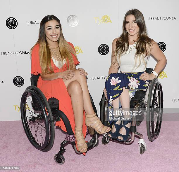 Web personality Steph Aiello and web personality Chelsie Hill at Beautycon Media hosts Tyra Banks TYRA Beauty for brunch Los Angeles CA at Sunset...