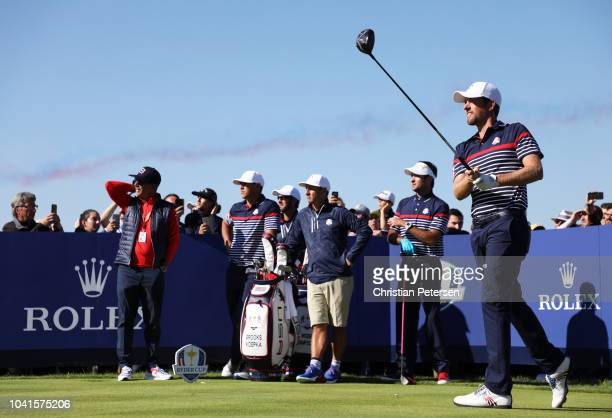 Webb Simpson of the United States during practice prior to the 2018 Ryder Cup at Le Golf National on September 27 2018 in Paris France