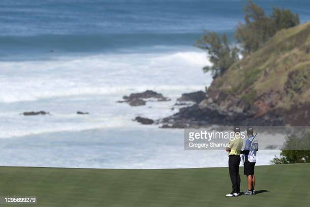 Webb Simpson of the United States stands on the 11th green during the final round of the Sentry Tournament Of Champions at the Kapalua Plantation...
