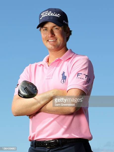 Webb Simpson poses for a portrait during the proam round of the Hyundai Tournament of Champions at the Plantation course on January 5 2012 in Kapalua...