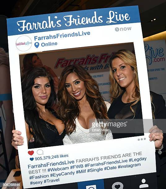Webcam girl Ashley Esper television personality and adult film actress Farrah Abraham and webcam girl Jessica Eads attend the 2016 AVN Adult...