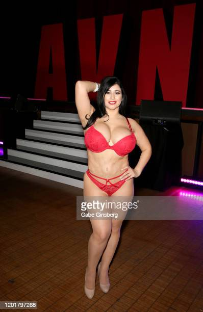 Webcam model Bonnie Ann poses during the 2020 AVN Adult Expo at The Joint inside the Hard Rock Hotel Casino on January 24 2020 in Las Vegas Nevada