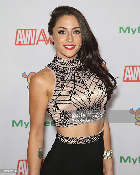 Webcam model Cleo attends the 2017 Adult Video News Awards at the Hard Rock Hotel Casino on January 21 2017 in Las Vegas Nevada