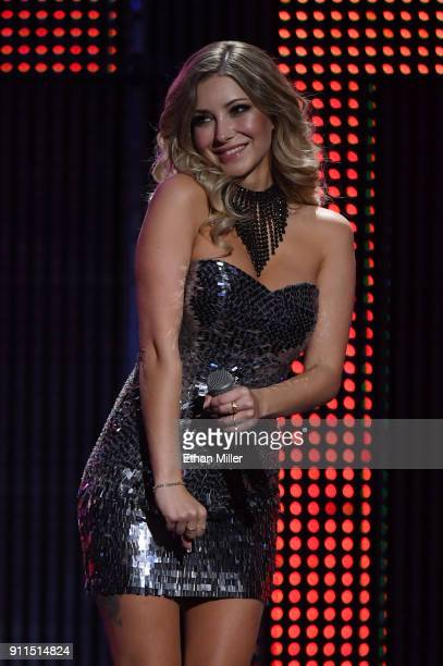 Webcam model Harli Lotts cohosts the 2018 Adult Video News Awards at The Joint inside the Hard Rock Hotel Casino on January 27 2018 in Las Vegas...
