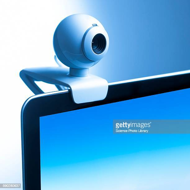 Webcam on computer monitor