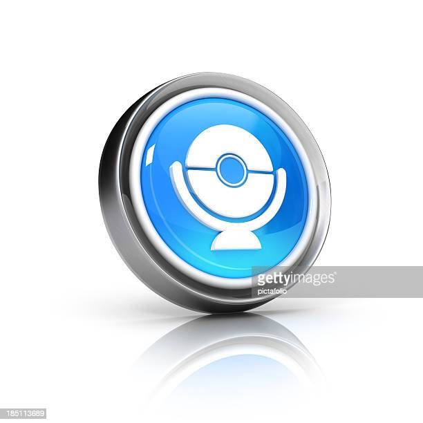 webcam or surveillance icon - camera icon stock pictures, royalty-free photos & images