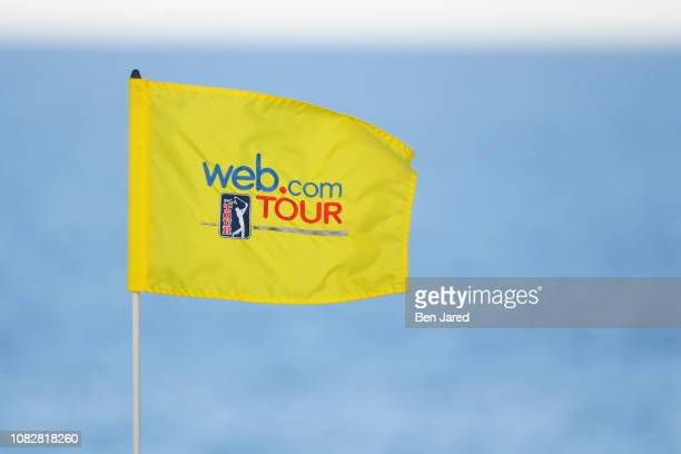 Webcom Tour pin flag on the fourteenth hole green during the second round of the Webcom Tour's The Bahamas Great Exuma Classic at Sandals Emerald Bay...