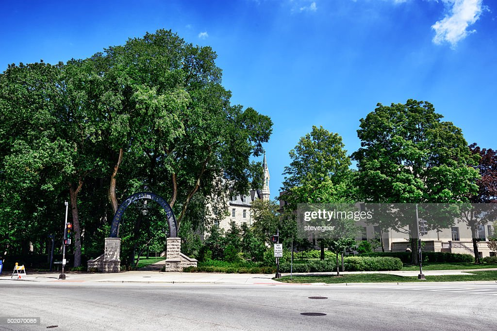Weber Arch, Northwestern University, Evanston, Illinois : Stock Photo