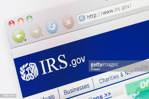 IRS Webpage on a web browser.