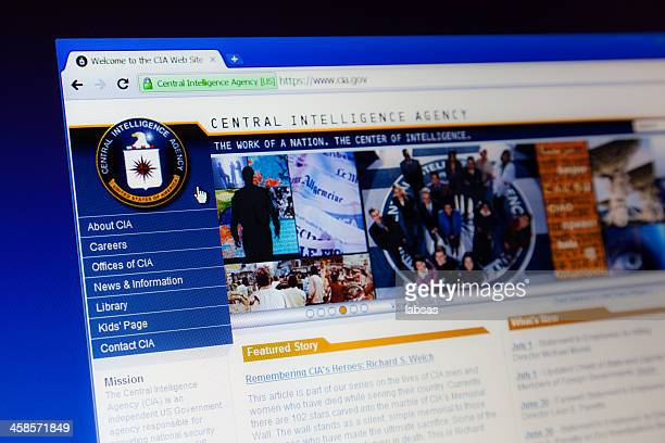CIA webpage on computer screen.