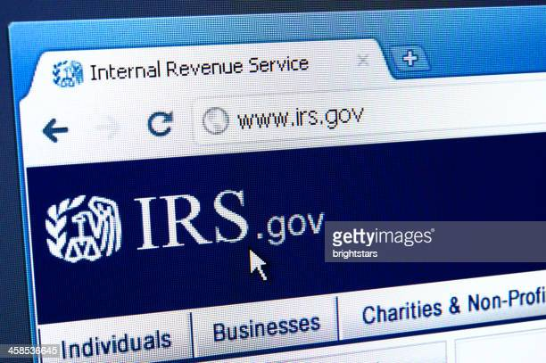 IRS webpage on the browser