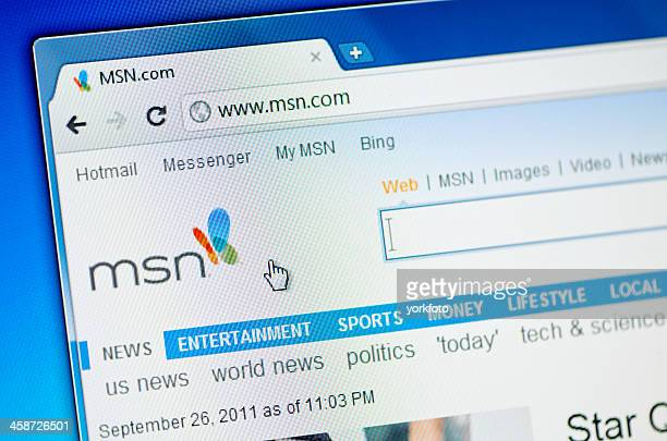 MSN webpage on the browser