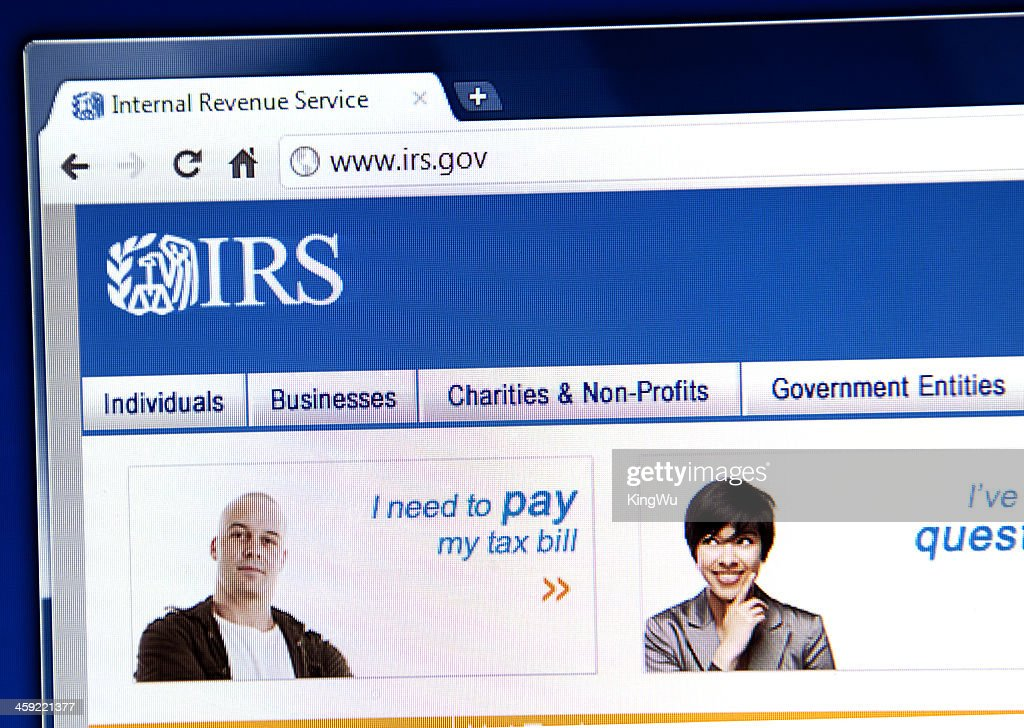 IRS webpage on the browser : Stock Photo