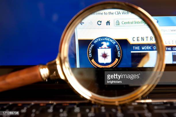 CIA website through a magnifying glass