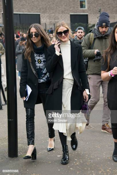 Websiteu2019s director of partnerships and editorial coordinator for Olivia Palermo Jilian Magenheim wears a Barrie sweater Blank NYC trousers and...