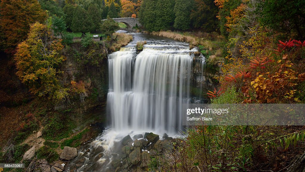 Webster's waterfall in the Autumn : Stock Photo