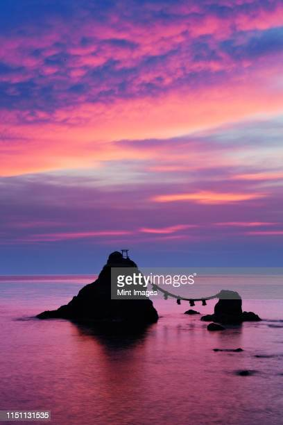 wedded rocks of futami - ise mie stock pictures, royalty-free photos & images