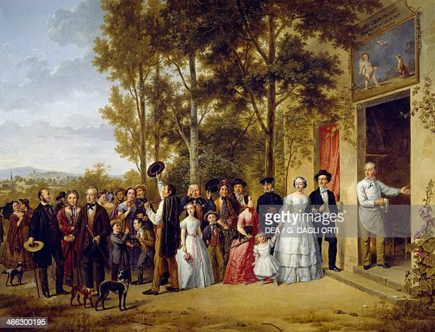 Wedding at Coeur Volant at Marly by an unknown French painter