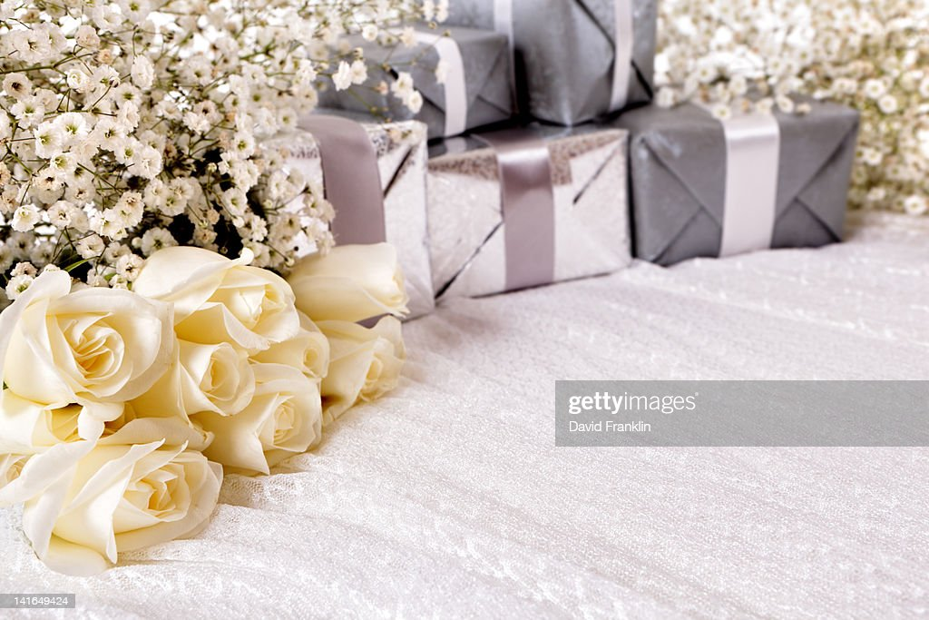 Wedding background with copyspace : Stock Photo