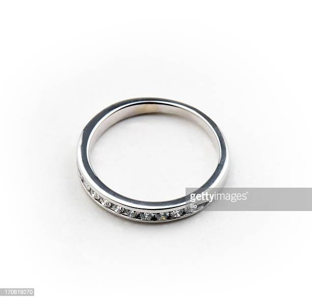 wedding band - white gold stock pictures, royalty-free photos & images