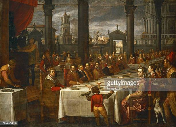 Wedding banquet for Grandduke Ferdinand I of Tuscany and Christine of Lorraine Canvas from Domenico Cresti Passignano Inv 1522 Kunsthistorisches...