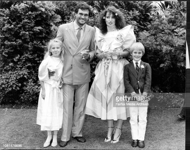 Wedding between Peter Simpson and Kathy Seymour in Lesley Jacobs house December 13 1981