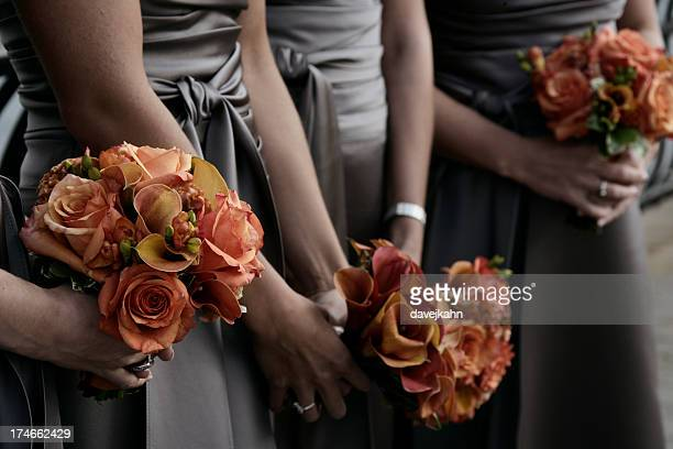 Wedding Bridesmaids with Flowers