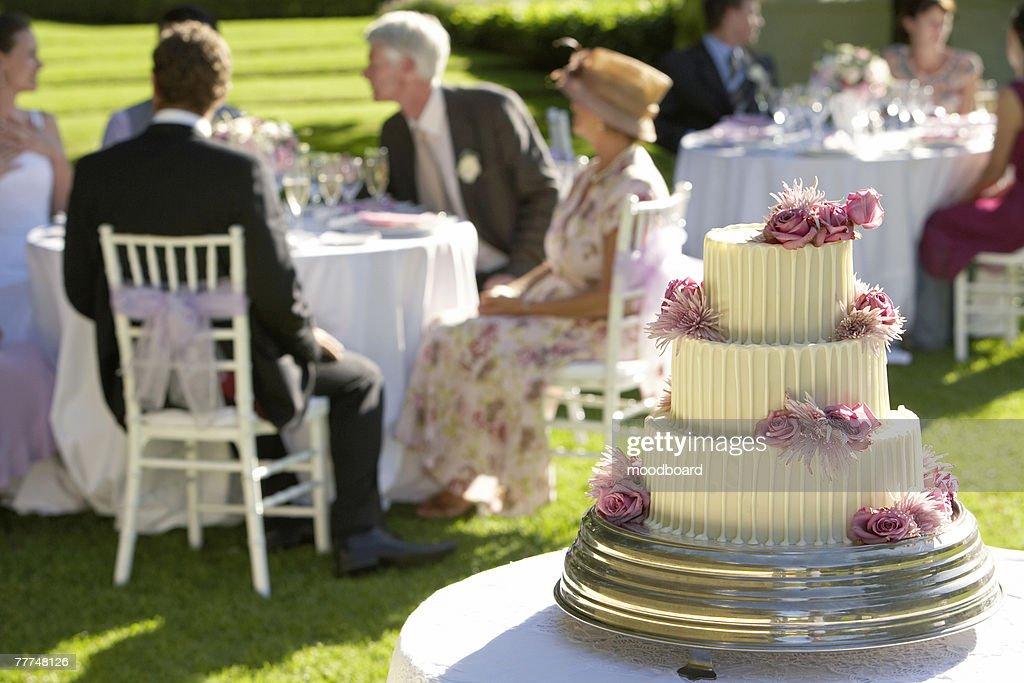 Wedding Cake at Reception : Stock Photo