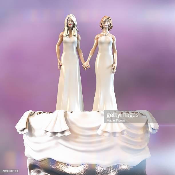 wedding cake figurines - mode de vie alternatif photos et images de collection