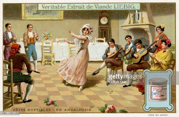 Andalusia Spain 1910 Traditional marriage ceremony Liebig Collectible Card