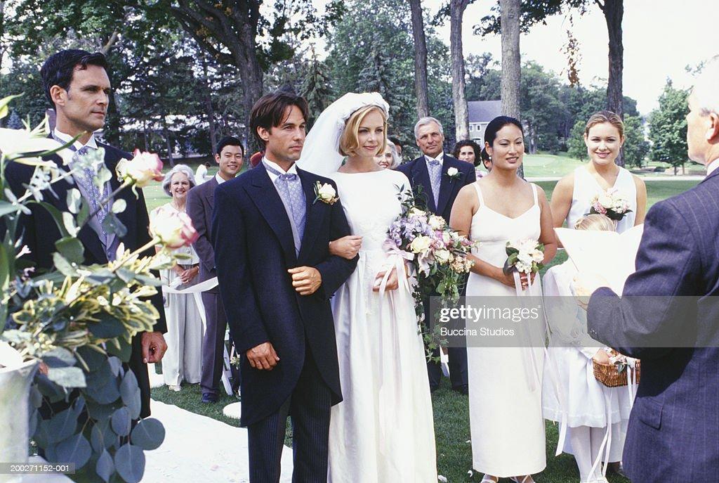 Wedding ceremony, outdoors : Stock Photo