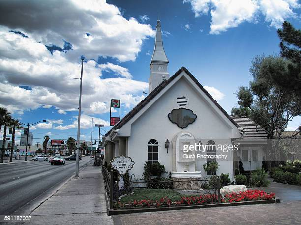 wedding chapel in las vegas, nevada - chapel stock pictures, royalty-free photos & images