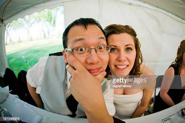 Wedding Couple Fisheye