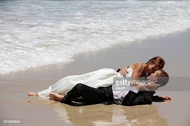 Wedding Couple in the Surf