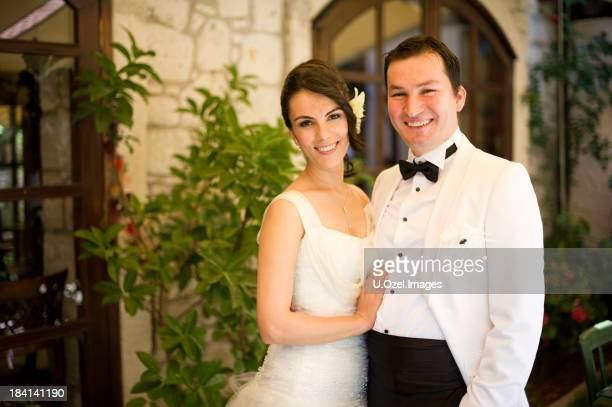 wedding couple - white tuxedo stock pictures, royalty-free photos & images