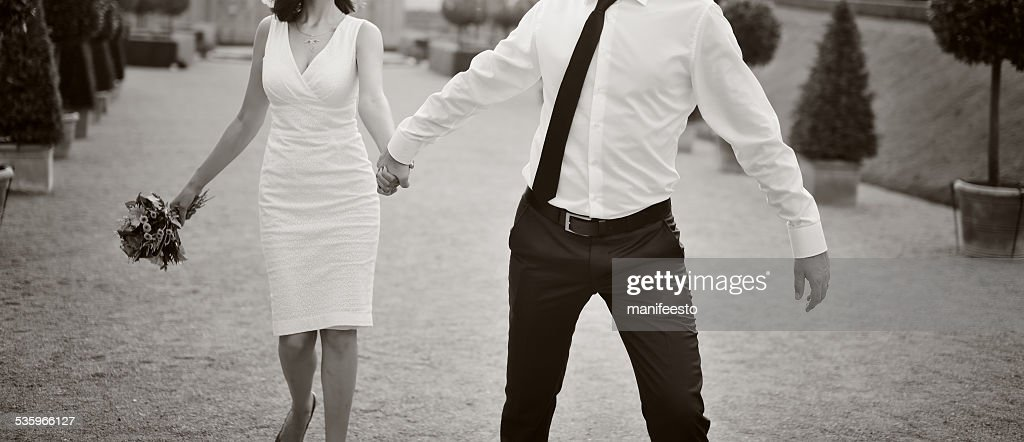 Wedding couple together. : Stock Photo